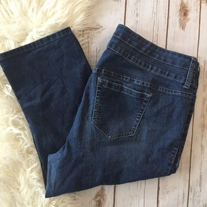 Torrid denim blue Capri jeans